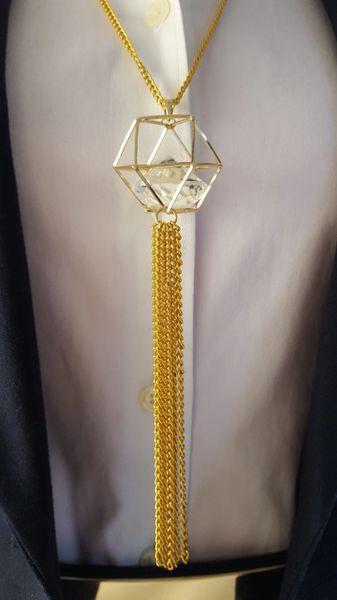 Caged Diamond Pendant