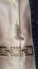 A Little Part Cowgirl Pendant Silver