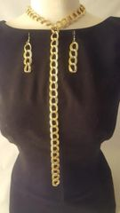 Chain Link Gold Necklace Set