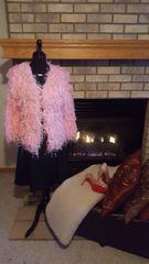 Fluffy Cardigan -Pink Medium