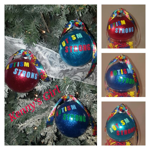 Autism Strong Ornaments