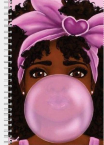 Curly Hair Cutie Notebook