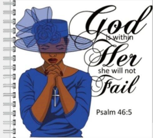 A Praying Woman-Blue