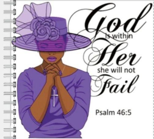 A Praying Woman-Purple