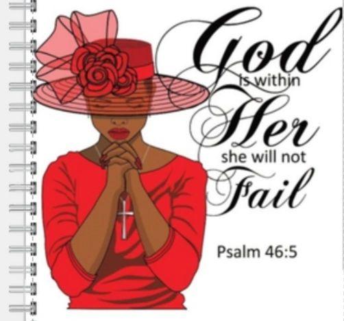 A Praying Woman-Red