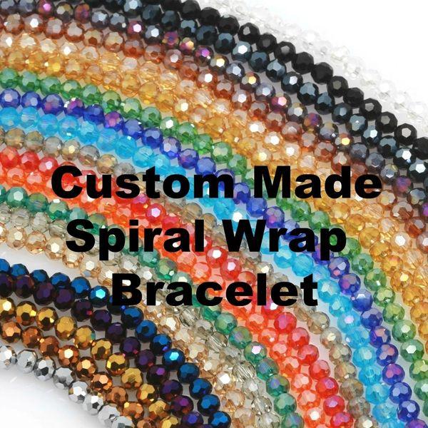Custom Made Spiral Wrap Bracelet