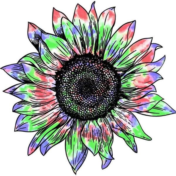 Flower Power-PRE-DRAWN CANVAS ONLY