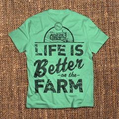 Life is Better On The Farm - Chalky Mint