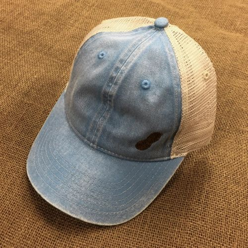 Unstructured Trucker Cap, Washed Denim/Ivory Mesh, CC-105