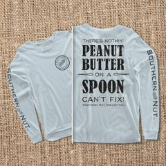 Peanut Butter On a Spoon - Chambray - Long Sleeve
