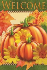 """Welcome House Flag for Fall 28""""x40"""""""