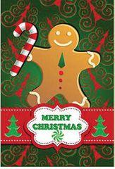 """Ginger man Flag for Christmas 12""""x18"""""""