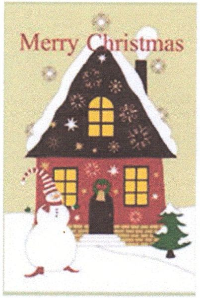 "Merry Christmas House Garden Flag for Christmas 12""x18"""