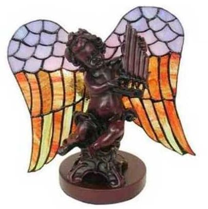 "10.5""H Tiffany Praying Angel Lamp"