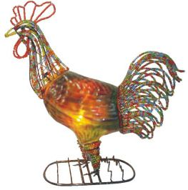 "11""H Rooster Desk Lamp"