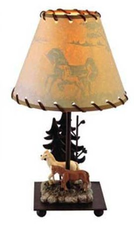 "GH1239-15"" Wilderness Lamp-Horses"