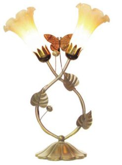 """15""""H Butterfly Lamp"""
