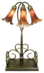 "23""H 3-Light Lily Shade Lamp"
