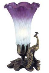 "8""H Lily Shade Beaded Peacock"