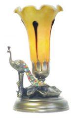 """9""""H Peacock Lamp"""