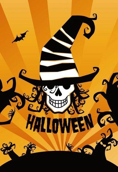 """Skull Flag for Halloween 28""""x40"""""""
