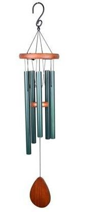 "C&F 34"" BEACH WOOD TOP DELUXE TUBULAR TUNE WIND CHIME"