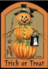 """Pumpkin Flag for Halloween 12""""x18"""""""