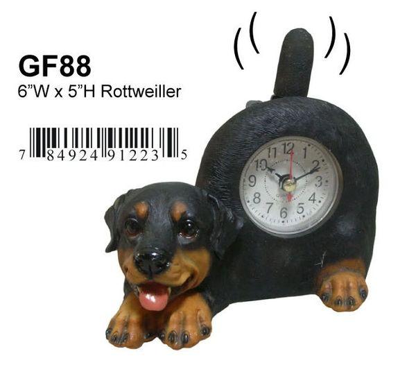 """GF88-ROTTWEILLER CLOCK 6""""W x 5""""H"""