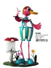 """G165 13.5"""" x 9"""" x 24""""H BOY BIRD SOLAR LIGHT"""