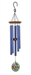 """C&F 28"""" BUTTERFLY WIND CHIME WITH SUN CATCHER"""