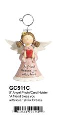 "GC511C 5"" ANGEL PHOTO/CARD HOLDER"