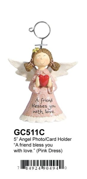 "GC511C 5"" ANGEL PHOTO/CARD HOLDER"