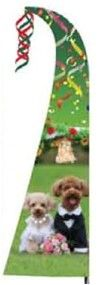 C&F 66021 WEDDING DOG COUPLE FEATHER FLAG