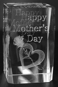 AAA1574-AIE LASER CUT CRYSTAL HAPPY MOTHER'S DAY