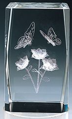 AIE LASER CUT CRYSTAL BUTTERFLIES