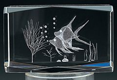AIE LASER CUT CRYSTAL ANGEL FISH