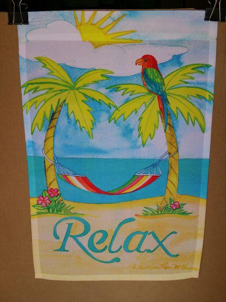 AIE RELAX AT THE BEACH GARDEN FLAG