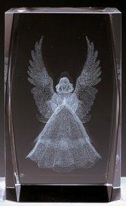 AAA1509-AIE LASER CUT CRYSTAL ANGEL