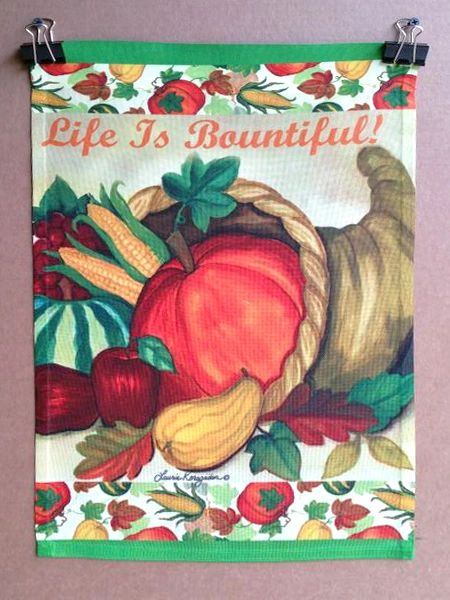 """47053-Welcome Garden Flag for Fall 12""""x18"""""""