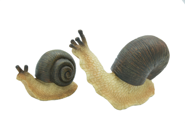 14020-Mom and Baby Snails Figurine (Pair)