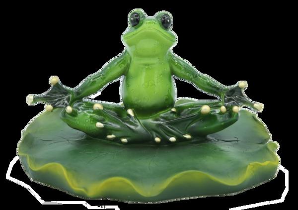 14036-Floating Single Zen Frog Figurine
