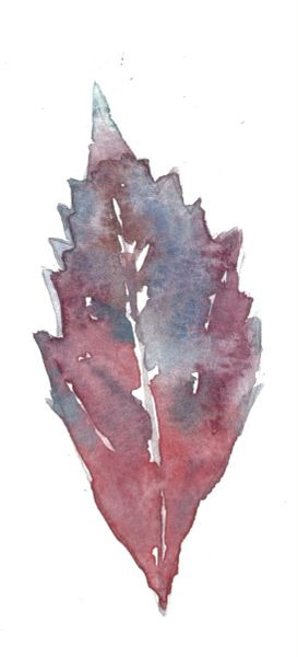 12 Printed Purple Fall Leaf Place Cards