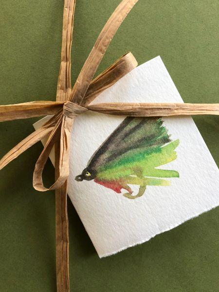 6 Printed Fly Fishing Gift Tags/Enclosures