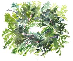 6 Printed Wreath Gift Tags/Enclosures