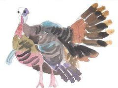 6 Printed Turkey Gift Tags/Enclosures