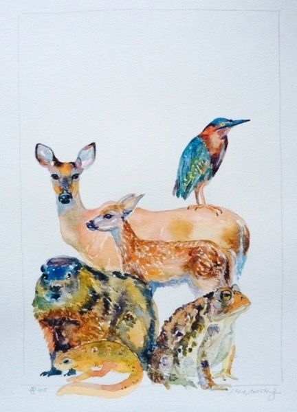 Stacked Animals with Large Toad-SOLD