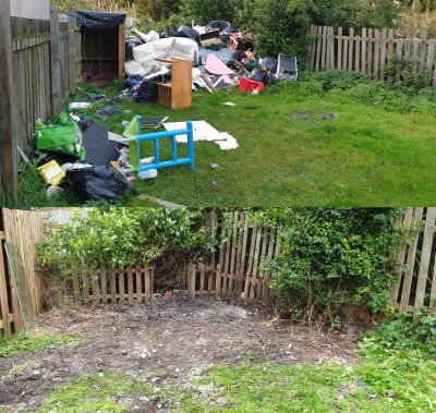 we can collect and remove old rubbish from your garden, we also can cut back over grown vegetation rake and and put down weedkiller. We cover Edinburgh West Lothian & Wishaw area.