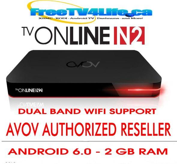 2018 AVOV TVONLINE N2 4k DUAL BAND IPTV BOX