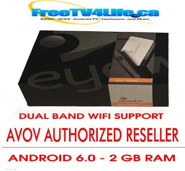 2019 AVOV TVONLINE EYEWATCH 4k DUAL BAND IPTV BOX