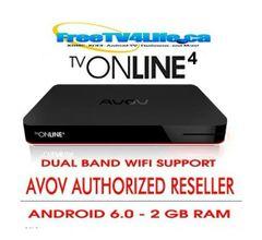 2020 AVOV TVONLINE4 2G/8G Android 4K IPTV Set Top BOX DUAL WIFI - REPLACES N2